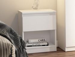 Skrinka /nočný stolík Carlos 401S, biely