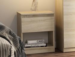 Skrinka/nočný stolík Carlos 401S, dub sonoma