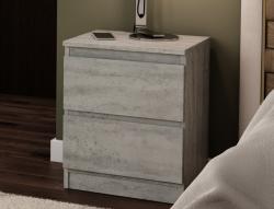 Skrinka /nočný stolík Carlos 402S, šedý beton