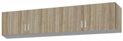 Skriňový nadstavec Bremen, 181 cm, dub san remo