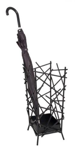 Stojan na dáždniky Mikido 26880, čierny