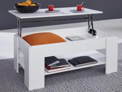Výklopný konferenčný stolík Universal 139, biely