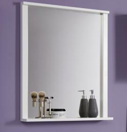 Zrkadlo s policou Orlando, biele