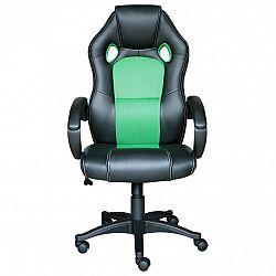 Kancelárske kreslo FORMULA čierna/zelená