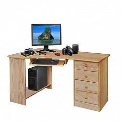 PC stôl rohový 8846 lakovaný