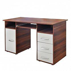 Písací stôl 60194 orech/biela