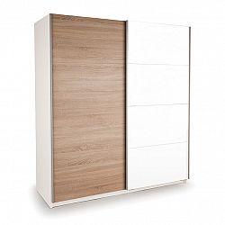 Skriňa s posuvnými dverami DECOR 200 biela/dub