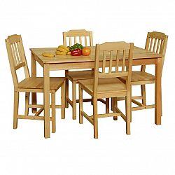 Stôl + 4 stoličky 8849 lak