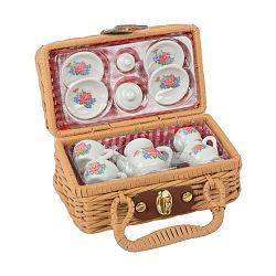 14-dielny detský porcelánový set s kufríkom Legler Coffee