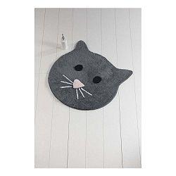 Antracitovosivá kúpeľňová podložka Cat, ⌀ 90 cm