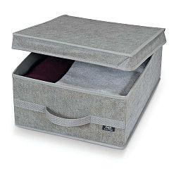 Béžový úložný box Domopak Ella, výška 18 cm