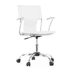 Biela kancelárská stolička Kokoon Oxford