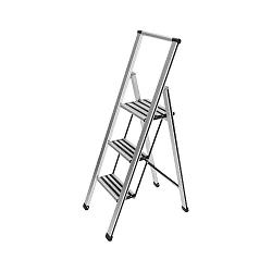 Biele skladacie schodíky Wenko Ladder, 153 cm