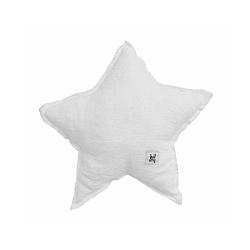 Biely detský ľanový vankúš v tvare hviezdy BELLAMY Snow White