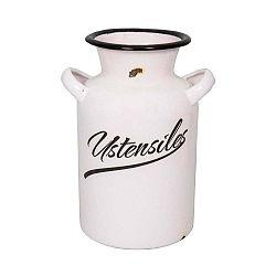 Biely smaltovaný džbán na mlieko Antic Line Classic