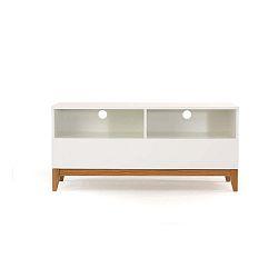 Biely televízny stolík Woodman Blanco