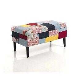 Čalúnená taburetka s úložným priestorom Tomasucci Kaleidos, 40×80×40 cm