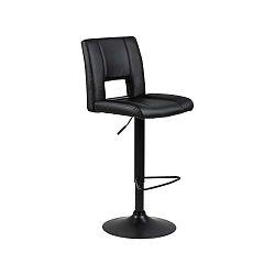 Čierna barová stolička s nastavitelnou výškou Actona Sylvia