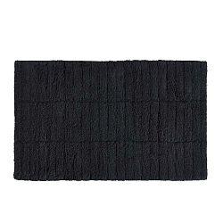 Čierna bavlnená kúpeľňová predložka Zone Tiles, 50 × 80 cm