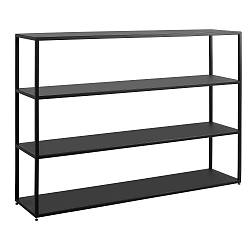 Čierna knižnica Custom Form Hyller, výška 180 cm