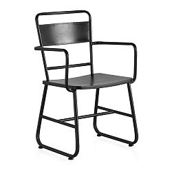 Čierna kovová pracovná stolička Geese Gerome