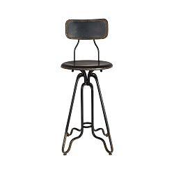 Čierna kovová vysoká stolička Dutchbone Ovid, výška 88 cm