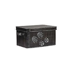 Čierny kovový box na prípravky na boty LABEL51