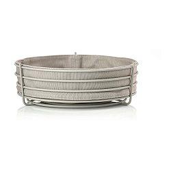 Čierny kuchynský košík na pečivo a ovocie Zone Singles