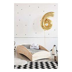 Detská posteľ z borovicového dreva Adeko BOX 6, 100×200 cm