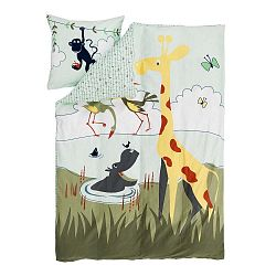 Detské obliečky Flexa Safari, 140 x 200 cm + 80 x 80 cm
