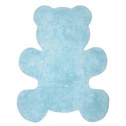 Detský modrý koberec Nattiot Little Teddy, 80×100cm