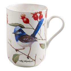 Hrnček z kostného porcelánu Maxwell&Williams Birds Eusarian Jay, 350 ml