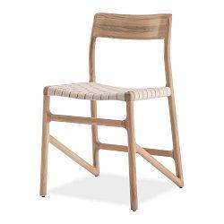 Jedálenská stolička z masívneho dubového dreva s bielym sedadlom Gazzda Fawn
