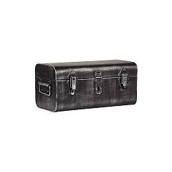 Kovový úložný dekoratívny kufor LABEL51, dĺžka 38 cm
