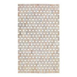 Krémovo-biela kúpeľňová podložka z bambusu Wenko Edna, 80×50 cm