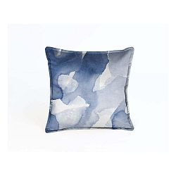 Modrá dekoratívna obliečka na vankúš Velvet Atelier Sky, 45x 45cm