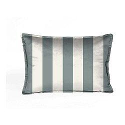 Modro-biela dekoratívna obliečka na vankúš Velvet Atelier Stripes, 50×35cm