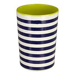 Modro-biela pruhovaná nádoba na kuchynské nástroje Premier Housewares Mimo, 340 ml