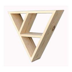 Nástenná polica z dreva Simple Triangle
