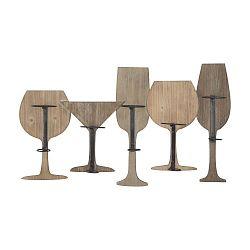 Nástenný držiak na 5 vínových fliaš Mauro Ferretti