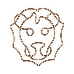 Nástenný vešiak lva Metaltex, šírka 27 cm
