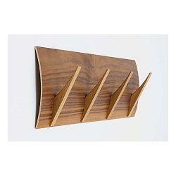 Nástenný vešiak z masívneho dreva Woodman Rack Naki Walnut Large