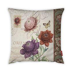 Obliečka na vankúš Vitaus Maseto Flowers Rusto, 43×43 cm