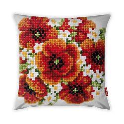 Obliečka na vankúš Vitaus Red Flower, 43×43 cm