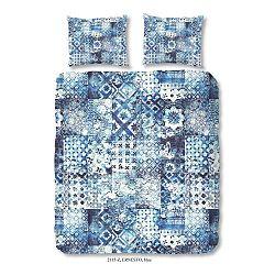 Obliečky na jednolôžko z bavlneného saténu Pendoro Azul, 140×200 cm