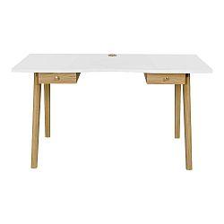 Písací stôl s bielou doskou WoodmanNice