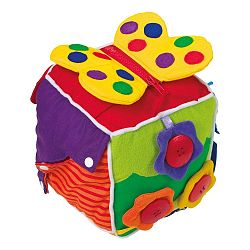 Plyšová kocka pre rozvoj motoriky Legler Baby 's Cube
