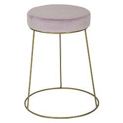 Ružová stolička so železnou konštrukciou v zlatej farbe Mauro Ferretti Ring