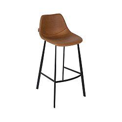 Sada 2 čiernych vysokých stoličiek Dutchbone Franky, výška 91 cm