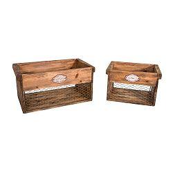 Sada 2 drevených úložných boxov Antic Line